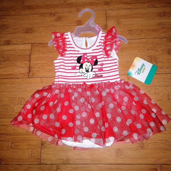Disney Other - Disney Minnie Mouse Tutu Bodysuit Baby Girl Dress